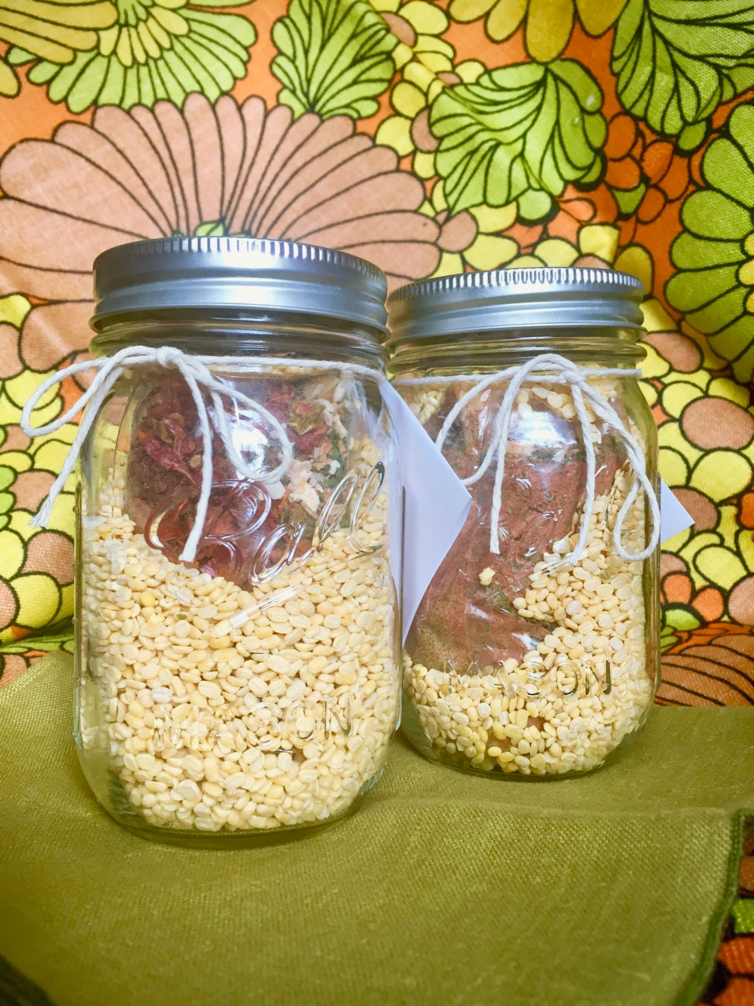 Complete All-in-One Tomato Dal Mix in a Jar Gift Tags